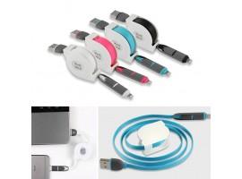 Удобен за пренос USB кабел подходящ за Iphone, Samsung и др.